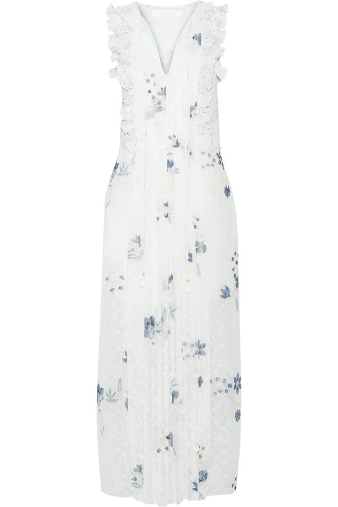 See by Chloé Ruffle-Trimmed Maxi Dress