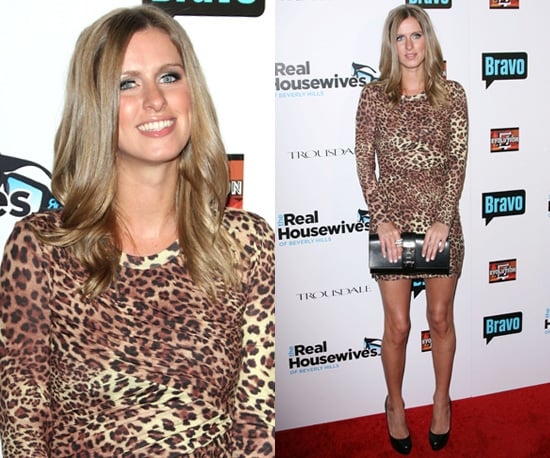 Photos of Nicky Hilton in Tight Fitting Leopard Print Dress