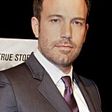 Ben Affleck wore a suit with a burgundy tie to his Argo premiere in Washington DC.