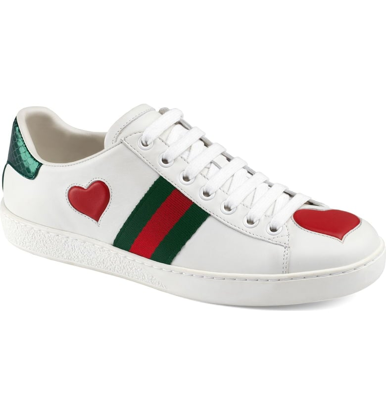 a9b5f06d662 Gucci New Ace Heart Sneakers