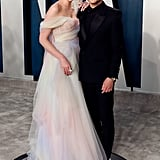 Lucy Boynton and Rami Malek at the Vanity Fair Oscars Afterparty 2020