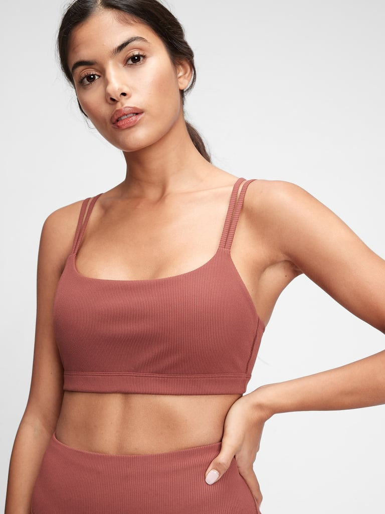 GapFit Blackout Ribbed Low Impact Sports Bra