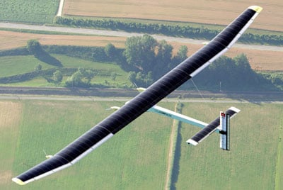 Solar Plane Powered by Solar Energy Makes 26-Hour Flight
