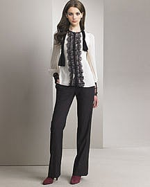 Nanette Lepore black tie top