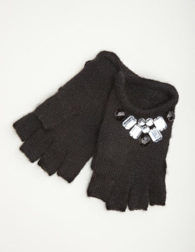 Jeweled Fingerless Gloves  ($10, originally $13)