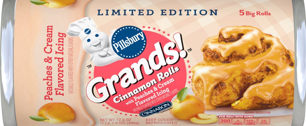 Pillsbury Peaches & Cream Cinnamon Rolls Are in Stores Now