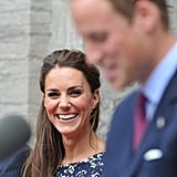 Kate can't keep her eyes off husband Prince William.