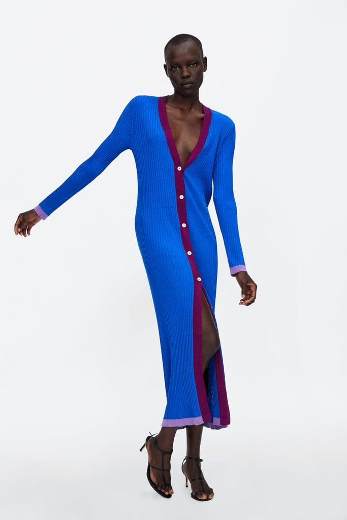 Zara Cardigan With Metallic Thread