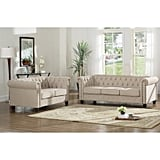 Best Master Furniture Venice 2-Piece Upholstered Sofa Set