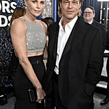 Charlize Theron and Brad Pitt at the 2020 SAG Awards