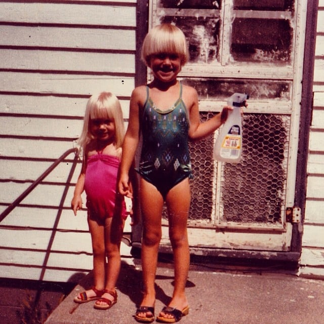 """""""I've always been very tidy it seems . . . but this job looks like it's gonna require some help. #sisters #TBT"""""""