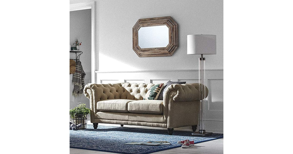 stone beam bradbury chesterfield tufted sofa amazon prime day furniture sale 2018 popsugar. Black Bedroom Furniture Sets. Home Design Ideas