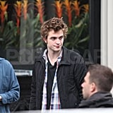 Robert Pattinson Filming Remember Me in NYC