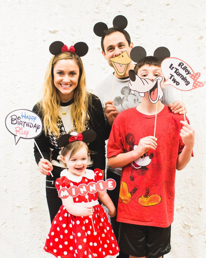 A photo booth gave everyone —including the Mesnick family — an opportunity to show their Minnie Mouse spirit.
