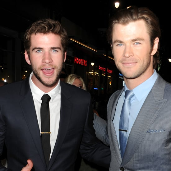 Chris & Liam Hemsworth At Thor: The Dark World Premiere