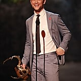 In 2013, Joseph Gordon-Levitt grinned while accepting his award.