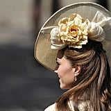 Pictures of Kate Middleton at Zara Phillips Royal Wedding, See Her Cream Recycled Coat From All Angles!