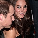 Kate smiles at Prince William.