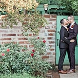 Grooms Brad and Raphael wanted to highlight their October wedding day with tasteful and charming nods to Fall and Halloween. See the wedding here!