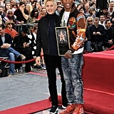 Ellen DeGeneres honoured Pharrell Williams with a star on the Hollywood Walk of Fame.