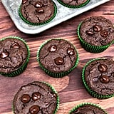 Double Chocolate Chip Mint Vegan Protein Muffins