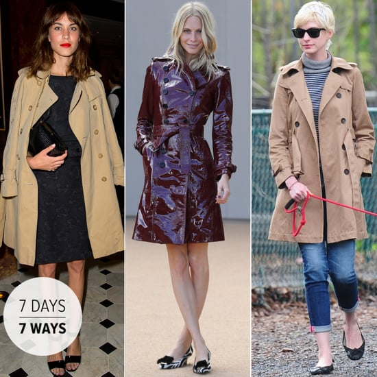 Celebrities Wearing Trench Coats