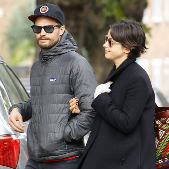 Jamie Dornan With His Wife in London October 2015
