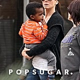 Sandra Bullock took her son, Louis, to the Audubon Zoo in New Orleans, LA.