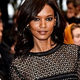 Model Liya Kebede attended the Jimmy P. (Psychotherapy of a Plains Indian) premiere in a sparkling black Roberto Cavalli dress. Her makeup focused on the eyes, with L'Oreal Colour Riche Eye Shadow Quad in Army Brat ($8) applied to create a dark, smoky effect.