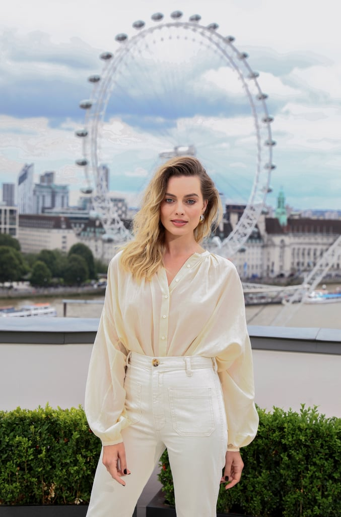 Margot Robbie at the London photocall of Once Upon a Time in Hollywood.