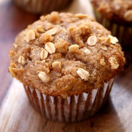 Healthy Banana Avocado Oatmeal Crumb Muffins