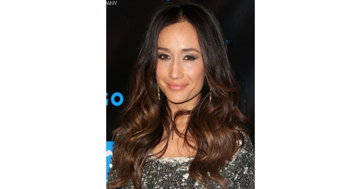 Maggie Q Hairstyle: Maggie Q Ombre Hair Maggie Q S Curls And Cat Eye Liner