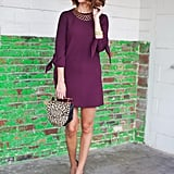 A Solid Long-Sleeved Dress and Black Boots