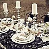 Black Lace Tablecloth