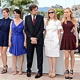 Diane Kruger, Andrea Arnold, President of the Jury Nanni Moretti, Hiam Abbass, and Emmanuelle Devos posed together at the jury photocall for the Cannes Film Festival.