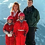 Sarah and Andrew showed unity after their divorce by continuing their family ski trip tradition. Eugenie and Beatrice wore matching snow suits on the slopes in 1997.