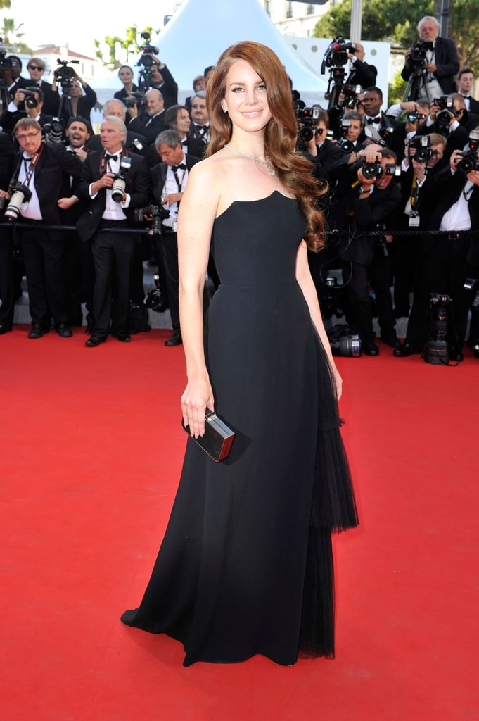 Lana Del Rey smiled on the red carpet at the opening of the Cannes Film Festival and the premiere of Moonrise Kingdom.