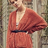 Urban Outfitters Quinn Tie Chenille Cardigan