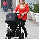 Hilary Duff pushed Luca Comrie's stroller.