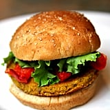 Grilled Veggies on a Burger