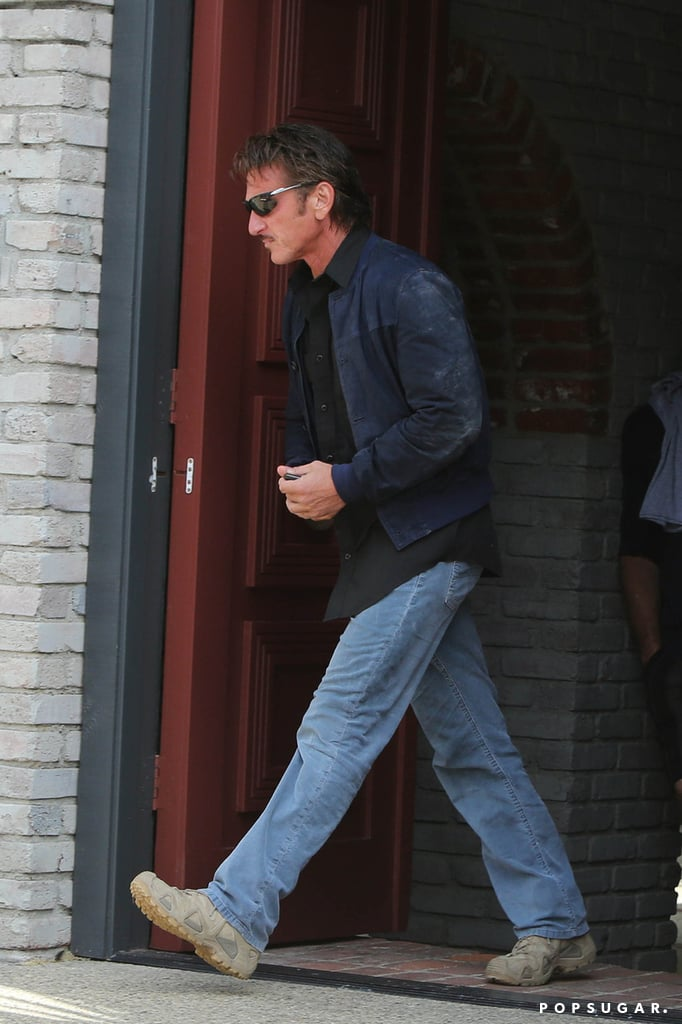 Sean Penn went casual for the Memorial Day party.