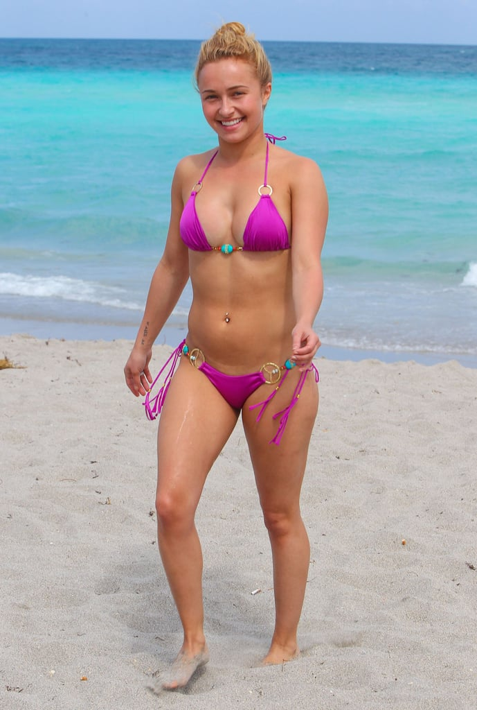 Hayden Panettiere spent Easter Sunday at the beach.