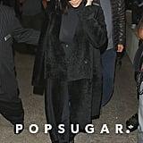 Kim Kardashian touched down at LAX on Friday.