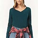 Forever 21 V-Neck Knit Top