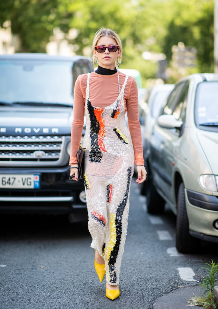 Layer Your Sequinned Dress With a Turtleneck