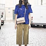 Pair an Off-the-Shoulder Top With Culottes
