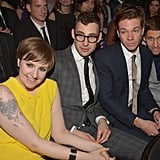 Lena Dunham sat next to boyfriend Jack Antonoff and the rest of his Fun. band mates.