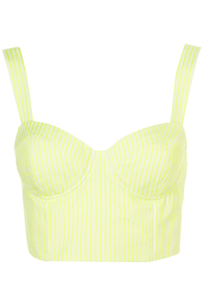 Brave enough to try a bralet top? We're in love with this neon striped iteration for Spring. Pair it with high-waisted white shorts.  Topshop Flouro Stripe Bralet ($90)