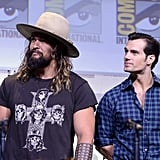 Pictured: Jason Momoa and Henry Cavill