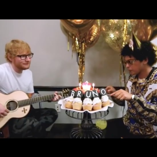 Ed Sheeran Singing Happy Birthday to Bruno Mars